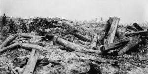 Schlachtfeld im 1. Weltkrieg