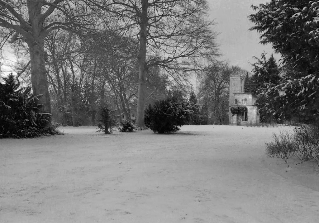 Park in Weimar im Winter
