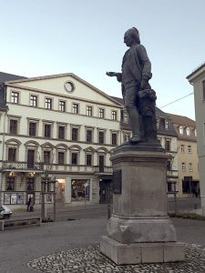 Denkmal am Wielandplatz in Weimar