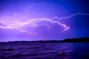 Finnischer See, Gewitter