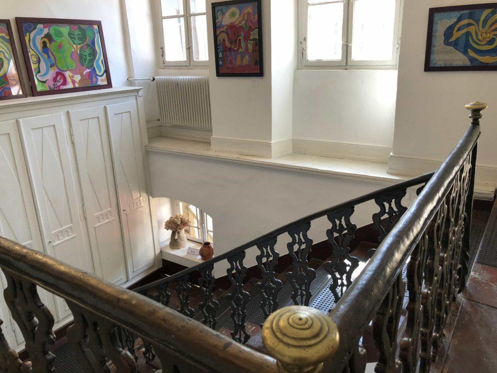 Treppenhaus im Museum «Haus Cajeth»